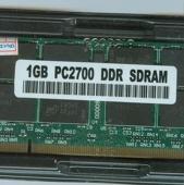 ОЗУ so-dimm DDR PC2700 1024Mb