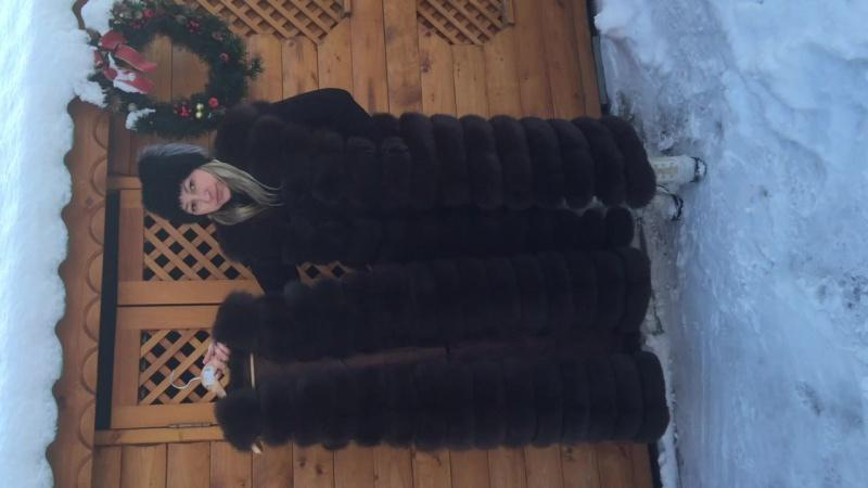В НАЛИЧИИ!!! Шикарная жилетка из меха ФИНСКОГО ПЕСЦА( цвет соболь) размер 42-44