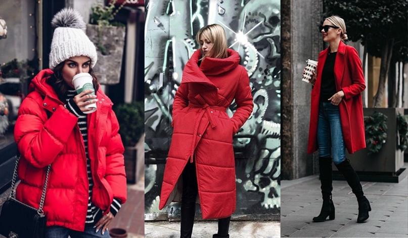 Пальто, тренчи, платья и блузки красного цвета