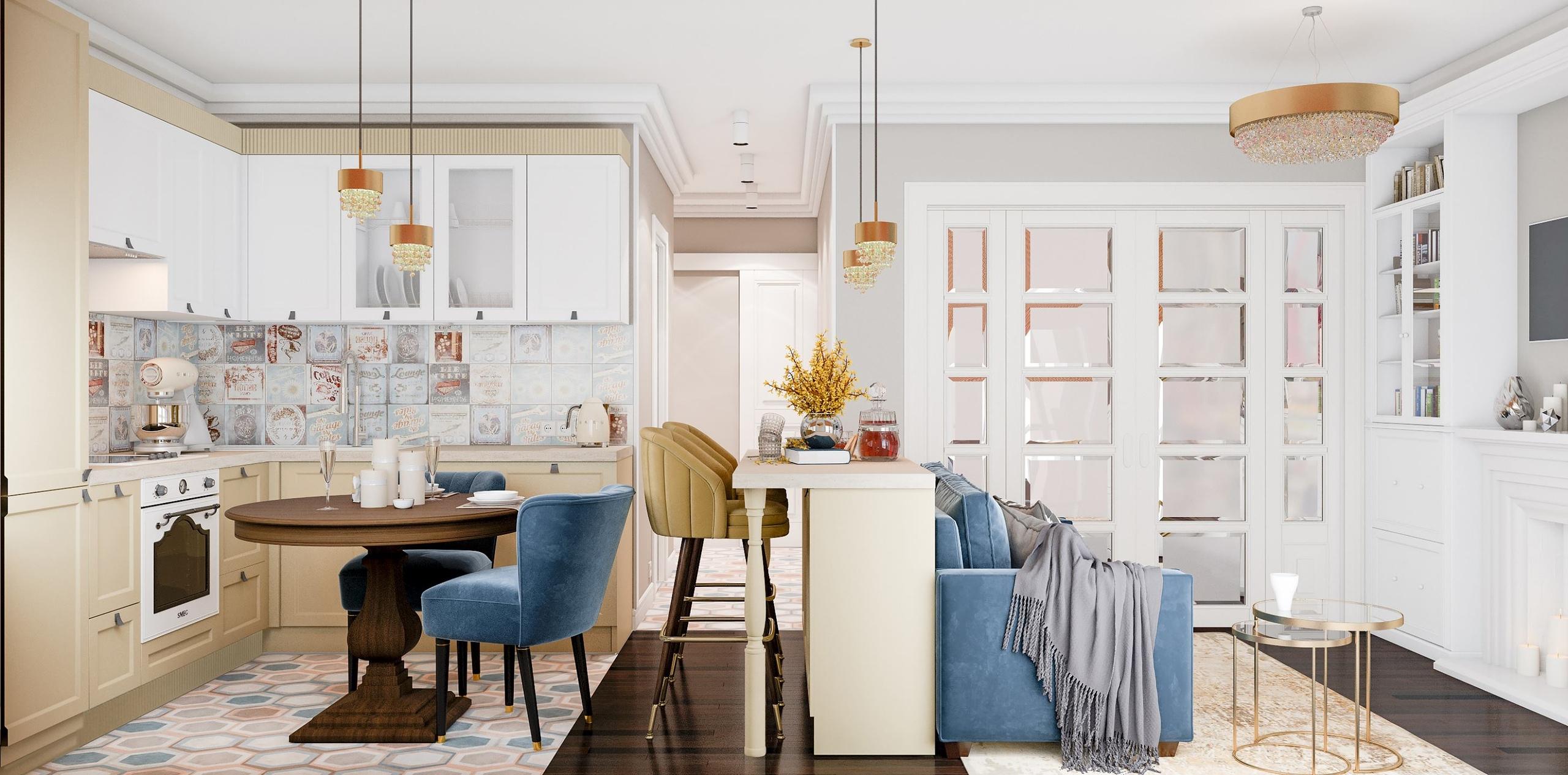 Три дизайн-проекта на одну планировку, квартира 33 м.
