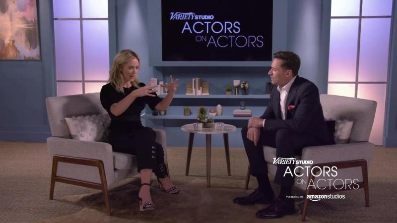 Actors Actors Эмили Блант и Хью Джекман 1