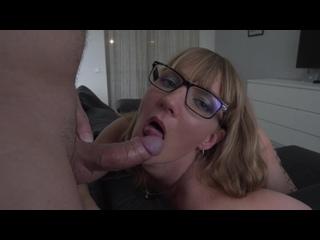 MILF Cocksucker - Cum Lover. Contactless Blowjob in Glasses. Close up. Sasha Bikeyeva