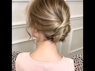 Ещё один вариант создания ракушки на волосы по плечи