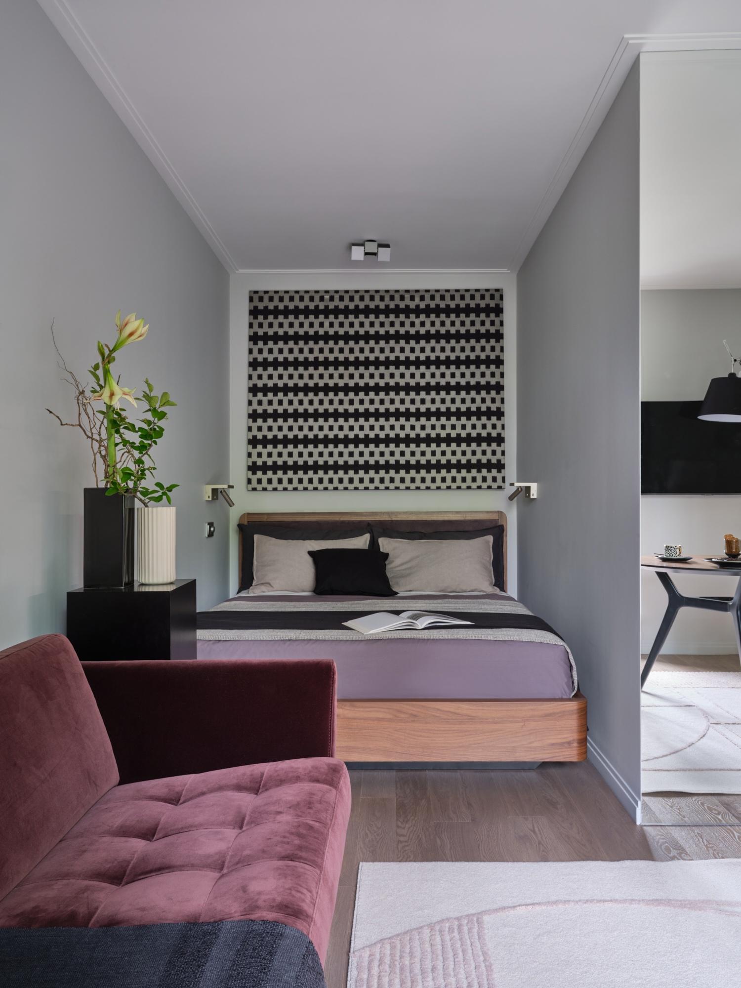 Дизайн квартиры открытой планировки 34 кв.