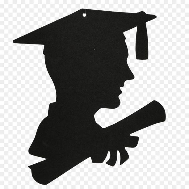 graduate silhouette clipart - 860×1017