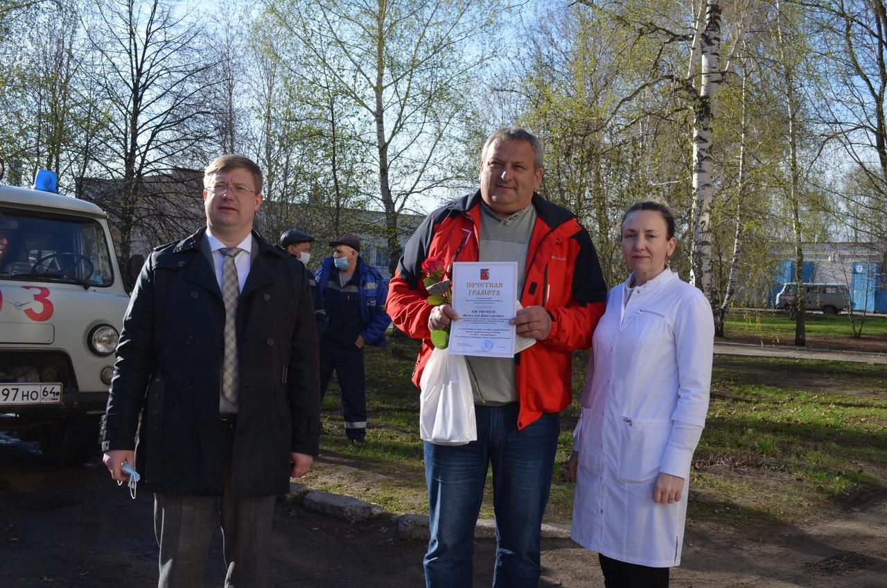 Петровских работников отделения скорой помощи поздравили с профессиональным праздником