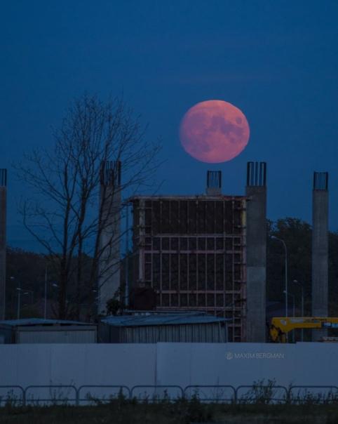 Луна прекрасна в любом пейзаже 🌛🌜Как думаете?...