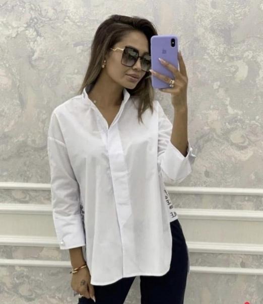 Модная рубашка, немного oversize, размер 42. Совер...