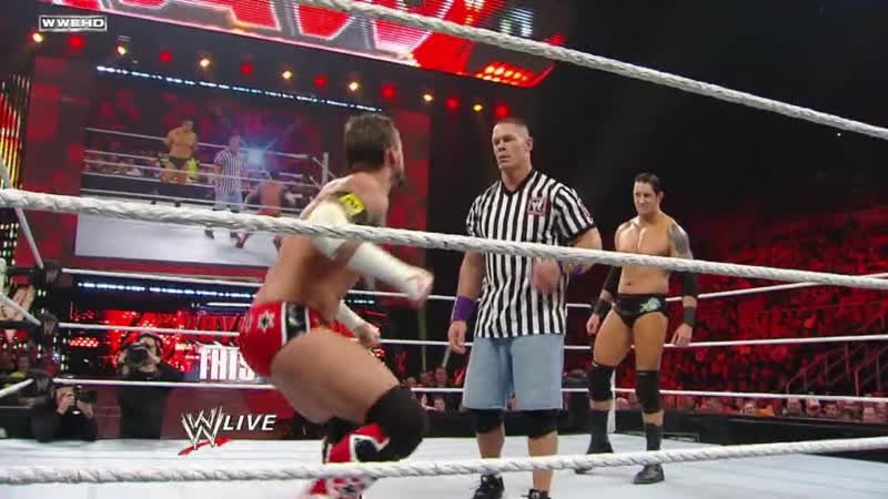 Raw CM Punk vs Wade Barrett