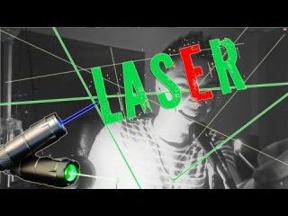 Мощный лазер, прожиг, жесть!