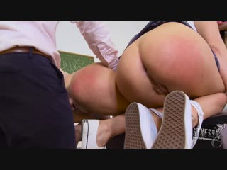 Disobedient Henessy and her friend Ally Breelsen get assfucked_1080p