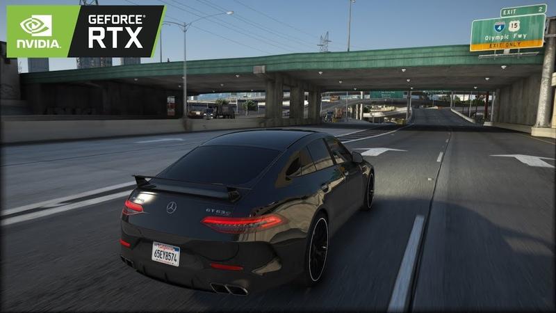 ◤ GTA V 8k Resolution ✪ Mercedes AMG GT 63 S - BRUTAL Sound 🔥 GEFORCE RTX™ 2080 Ti i9-9900k