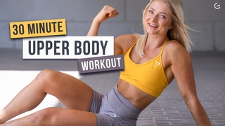 30 MIN TONED ARMS & ABS WORKOUT - Upper Body, No Equipment, No Repeat - (HIIT IT HARDER DAY 4)