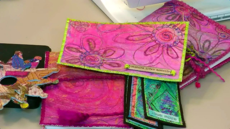 Fabric Paper Made From Construction Paper - HowToGetCreative.com with Barb Owen
