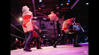 Heather Monroe & Dom Kubrick vs. Los Luchas (INTERGENDER) at Bar Wrestling