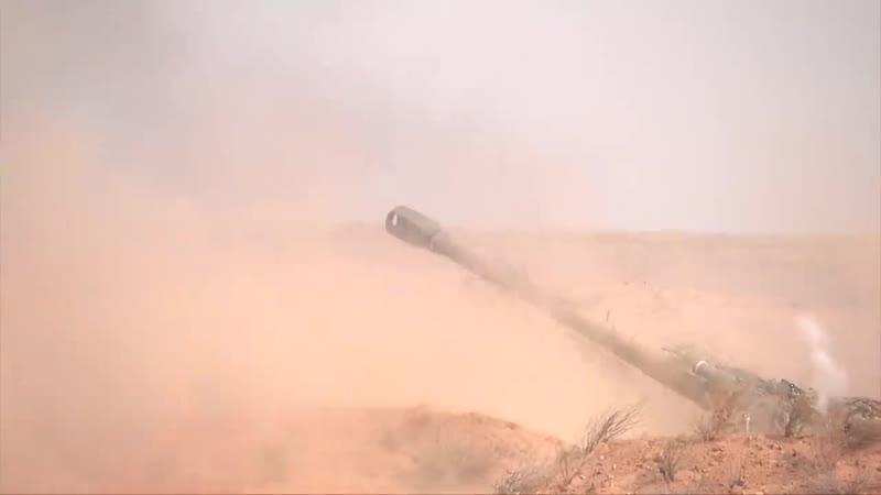 Эпизод по ведению высокоманевренной обороны в рамках СКШУ Кавказ 2020 на полигоне Ашулук