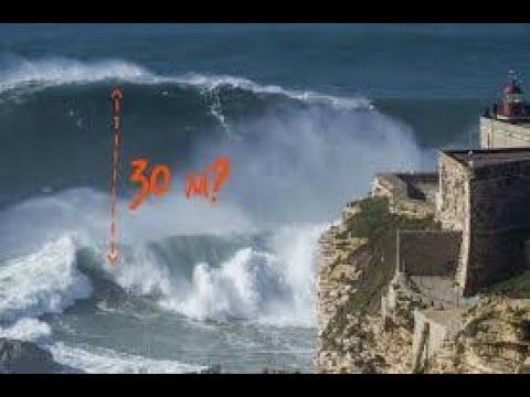Самые большие волны в мире Португалия Назаре Самые большие волны в мире Португалия Назаре