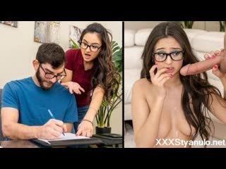 Eliza Ibarra - Teaching The Tutor [All Sex, Blowjob, Doggystyle, Teens, Doggystyle, Uniform, Young]