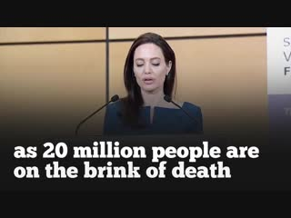 English speech. ANGELINA JOLIE - What We Stand For (English Subtitles)
