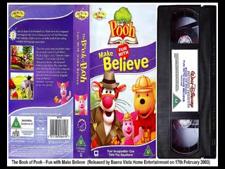 The Book of Pooh - Fun with Make Believe, Fun with Manners and Just Say BOO! (2003, UK VHS)
