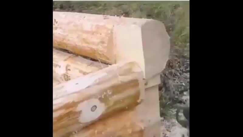 Строительство дома из сруба, на которое можно смотреть вечно