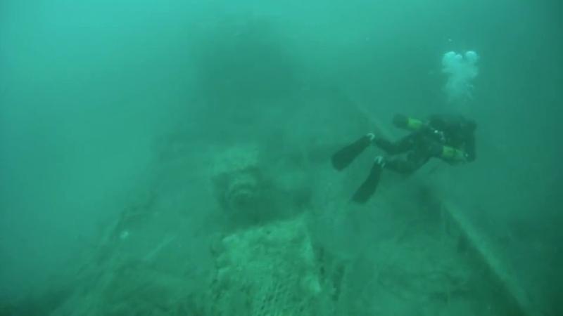 Затонувший корабль СЧС Топорок
