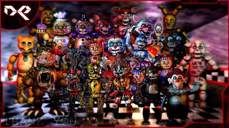 Ultimate Custom Night ▶ Попытка выжить среди аниматроников