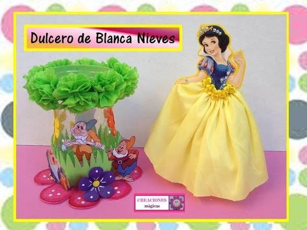 ♥♥Dulcero de Blanca nieves con botella de plástico Creaciones mágicas♥♥