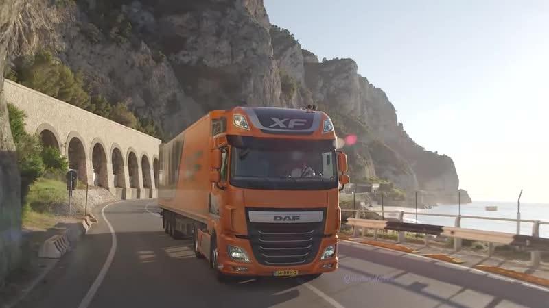 Music clip Style Italo Disco Mix DAF Trucks