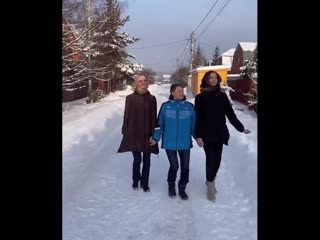 С бабулей решили отжечь)