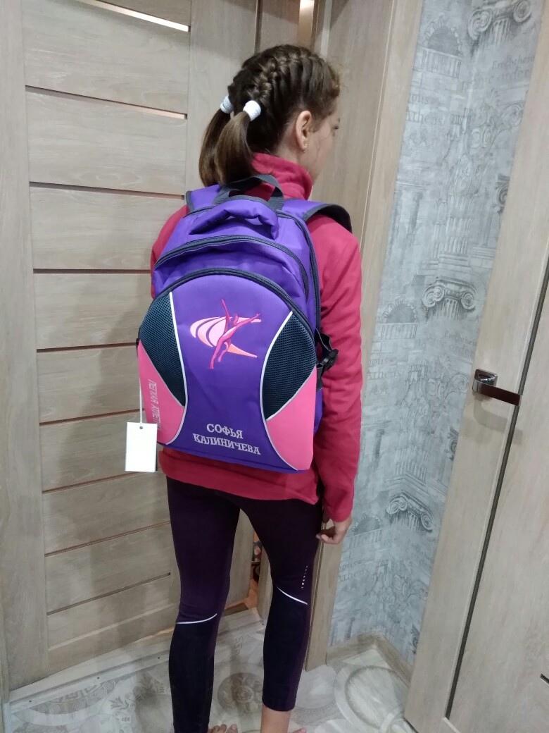 Для легкоатлеток мы делаем вот такие красивые рюкзачки