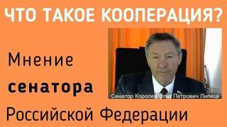 Что такое КООПЕРАЦИЯ? - мнение сенатора Российской Федерации Королёва Олега Петровича