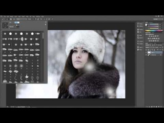 Create a  Beautiful Winter Portrait with Softly Falling Snow \\з