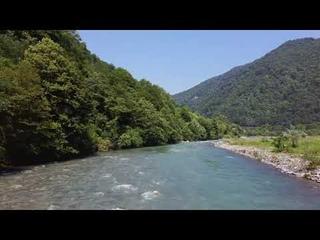 Абхазия. Река Гумиста.