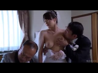 Asian milf wife get stripped clothes by boss in front of her husband