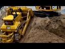 BIG Cat D11T Dozer in Action ♦ Construction Site Excavator Dumper Caterpillar Trucks Baustelle RC