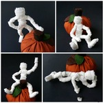 Мумия из проволоки и ткани к Хэллоуину (МК)