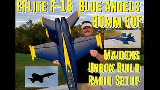 Horizon Hobby - F-18 80mm Blue Angels - Unbox, Build, Radio Setup, Maidens