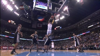 J.R. Smith dunk on Gary Neal - Spurs @ Nuggets 12/16/10