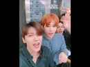 Everything about this video is so cute, tenkun singing along, jungwoo's orange hair and xuxi's i have no more hair.