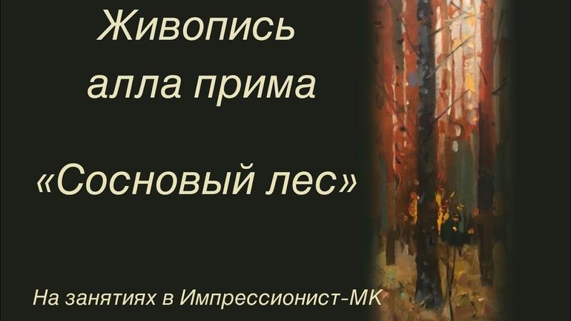 Живопись алла прима Сосновый лес На занятиях в Импрессионист МК