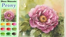 Basic Flower Watercolor-Peony. (wet-in-wetwet-on-dry. Arches) NAMIL ART