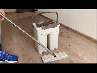 ШВАБРА ЛЕНТЯЙКА💦🙆♂С ведром для отжима и полоскания 8 литров - обзор инструкция