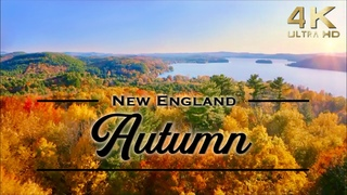 4K Autumn in New England TV Background with Music, Fall Foliage & Scenery, Autumn Leaves Fall Colors