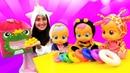 Весёлые игры - Куклы БЕБИ собирают Пирамидку! - Видео игры с Cry Babies и Милая Пони Единорожка