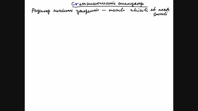 Проводящие пути слухового и вестибулярного анализатор Ч2 Лектор Сутягин П В
