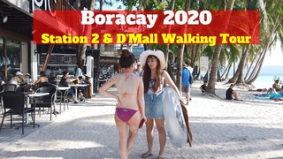 BORACAY STATION 2 & D'MALL Walking Tour | Boracay Island Philippines 2020