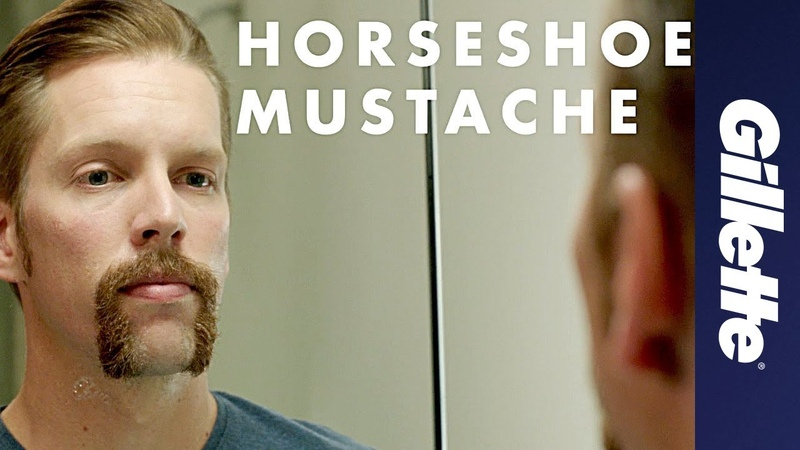 Mustache Styles How to Shave a Horseshoe Mustache Gillette